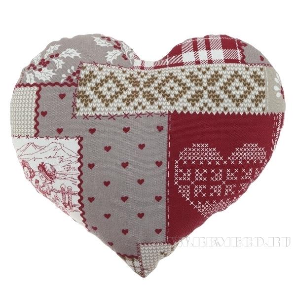 Подушка-сердце «Зимний пейзаж», размер 33*38см оптом