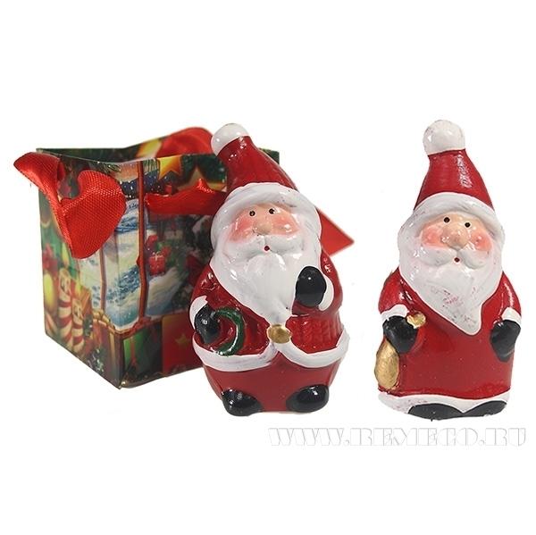 Декоративное изделие Фигурка Дед Мороз, 7,2 см, 4 в. оптом