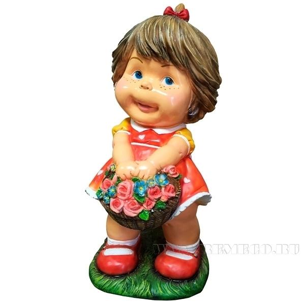 Фигура декоративная Девочка H35 см. оптом