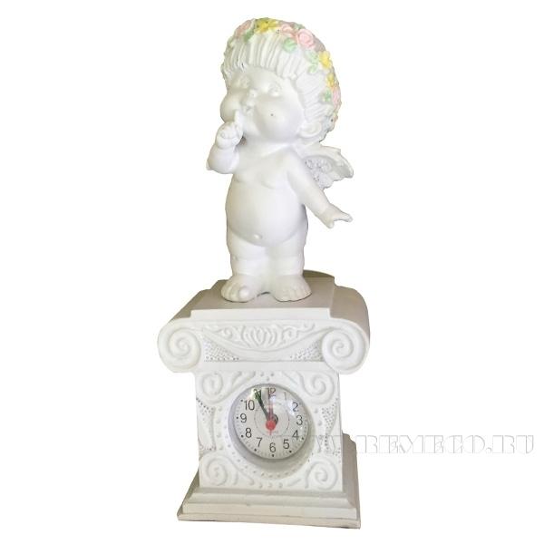 Композиция время Ангел (цвет белый) Н25,5см оптом