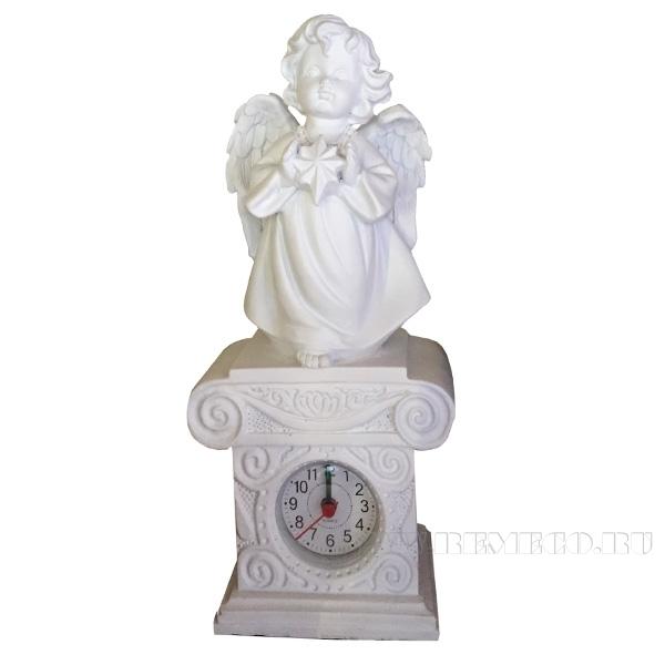 Композиция время Ангелочек со звездочкой Н25,5см. (цвет белый) оптом