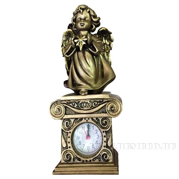 Композиция время Ангелочек со звездочкойН25,5см. (сусальное золото) оптом