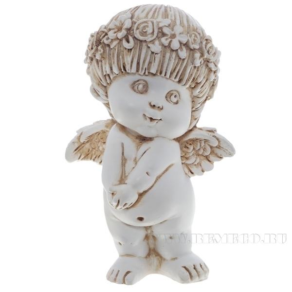 Фигура декоративная Ангел (цвет антик),  L10W8H14,5 cм оптом