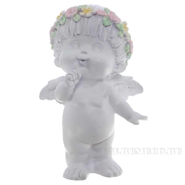Фигура декоративная Ангел (цвет белый), L10W8,5H14,5 cм оптом