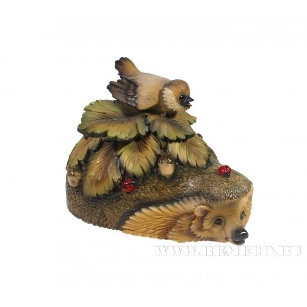 Фигурка декоративная Ежик-шкатулка , L21,5W13Н15см оптом