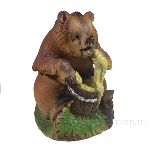 Фигурка декоративная Мишка с медом , L17,5W18 Н22см оптом