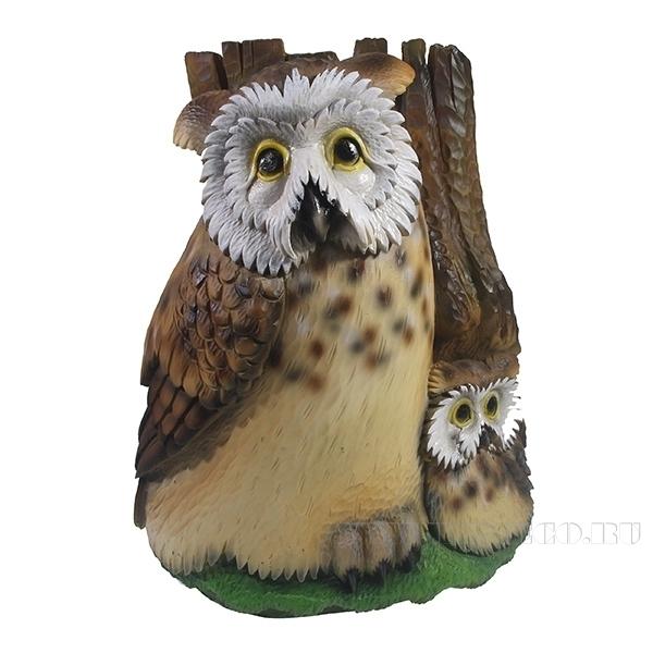 Фигурка декоративная Сказочные совы, L24W20 Н27,5см оптом