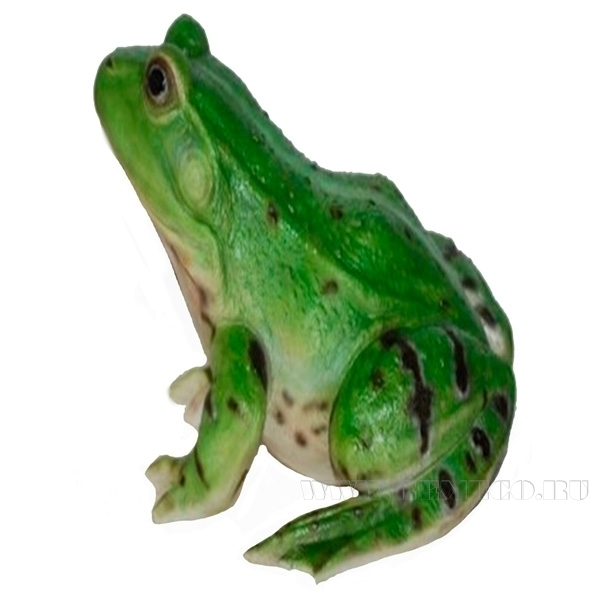 Фигура декоративная садоваяЛягушка зеленая, L20,5 W17,8H13,5см. оптом