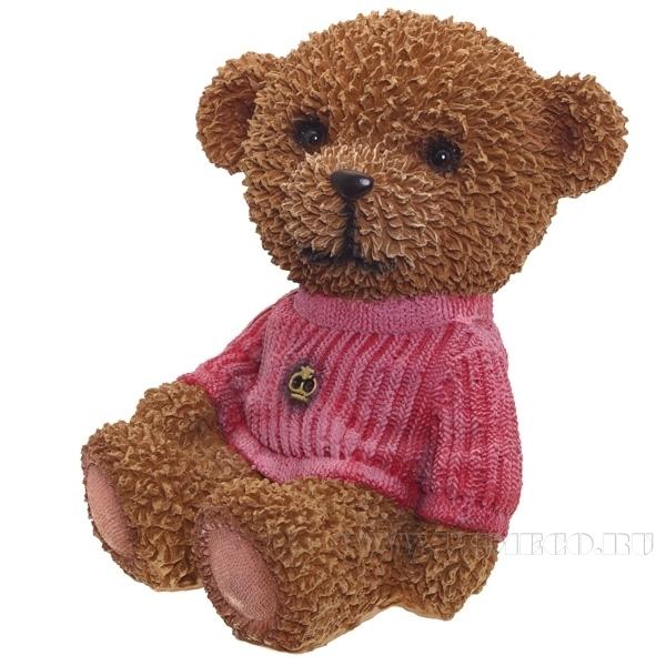 Копилка Мишка в розовом свитереW11.5L10H17см. оптом