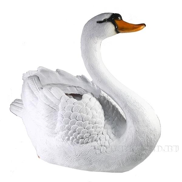 Кашпо декоративное Лебедь большой, L55 W26 H45,5 см оптом