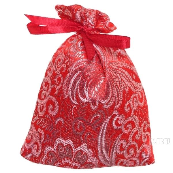 Мешок для подарков 15*12см (красная парча) () оптом