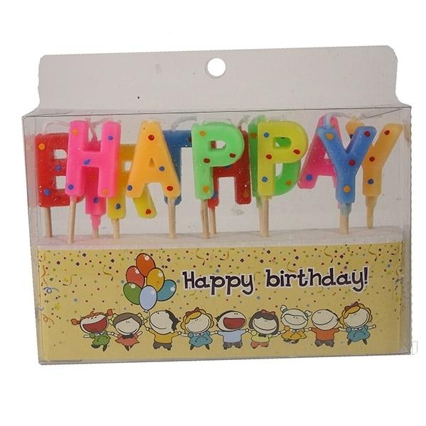 Набор свечей для тортаHappy birthday! оптом