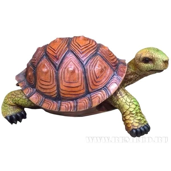 Фигура садовая декоративная Черепаха L45W31H22 см оптом