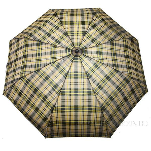 Зонт 23, полный автомат (Клетка бежевая с желтым) оптом