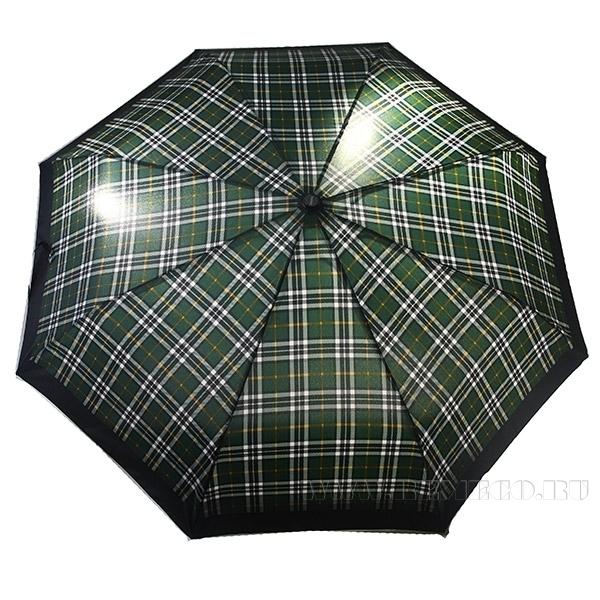Зонт 23, полный автомат (Клетка зеленая с белым) оптом