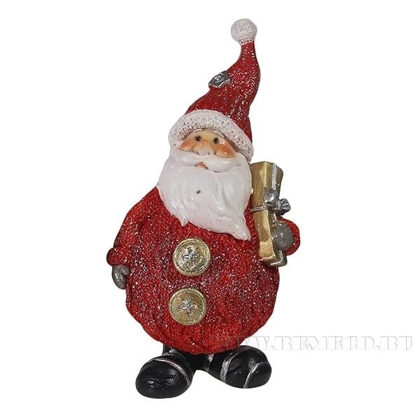Фигура декоративная Дед Мороз с подарками L7W6H16,5 см оптом