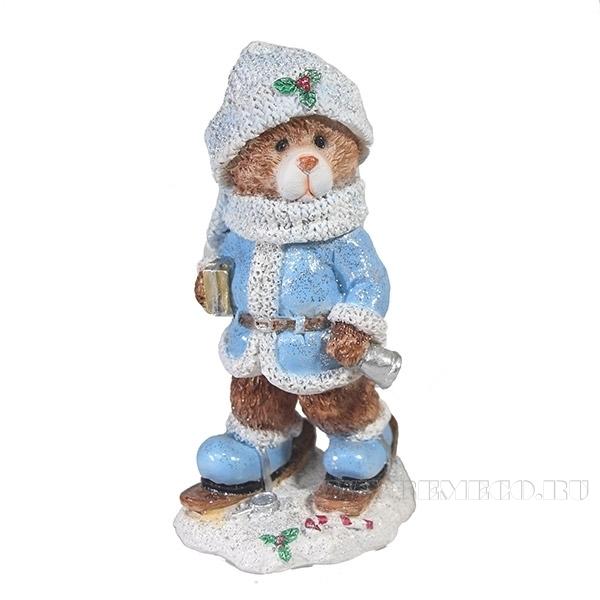 Фигура декоративная Мишка на лыжах , L8W7H16см оптом