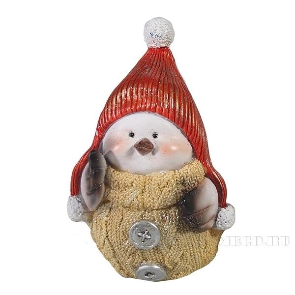 Фигура декоративная Снегирь-девочка L8W10H15см оптом