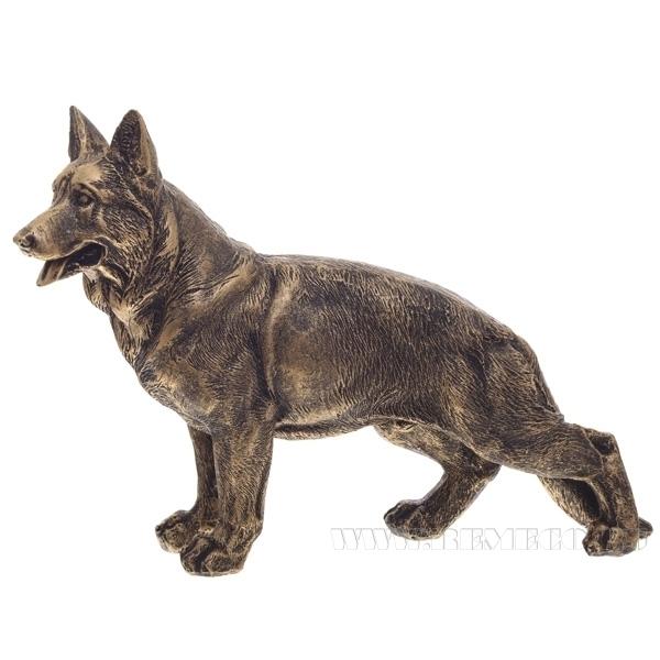 Фигура декоративная  Немецкая овчаркаL18W4H12см., оптом