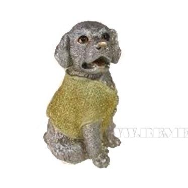 Фигура декоративная Щенок в золотом свитере 10х9,5х14,5 оптом