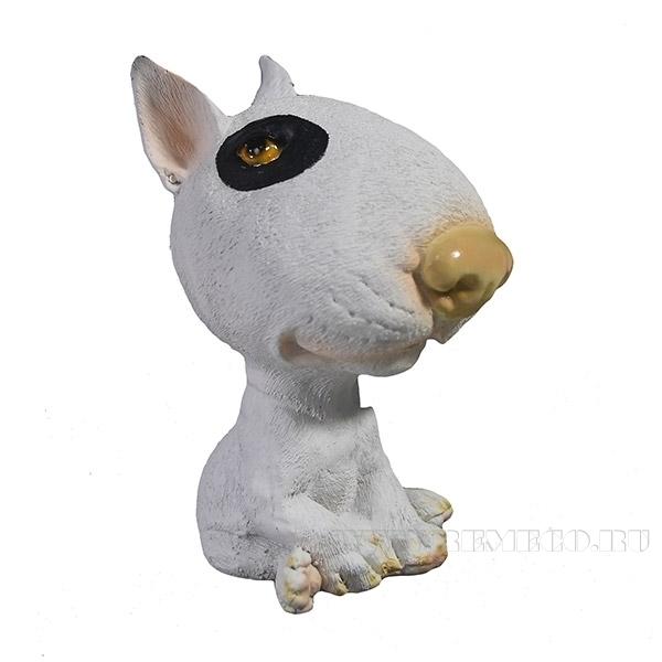 Фигура декоративная Щенок БультерьерL7W8H12см оптом