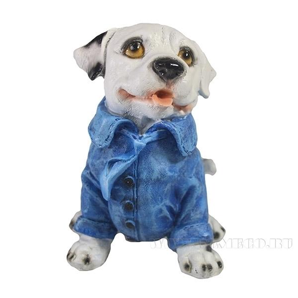 Фигура декоративная Щенок Далматинец в синем пиджаке оптом