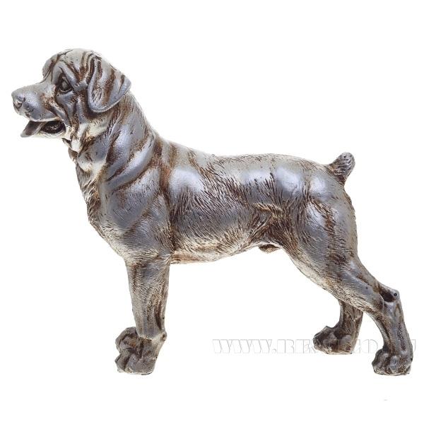 Фигура декоративная Ротвейлер (серебро)L16W4H12см. оптом