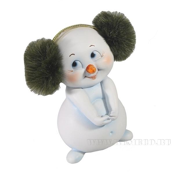 Фигура декоративная СнеговичокL6W7H10см. оптом