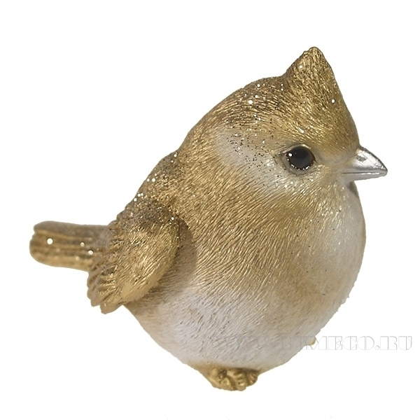 Фигура декоративная Зимородок (золотой)L6W9H9см. оптом