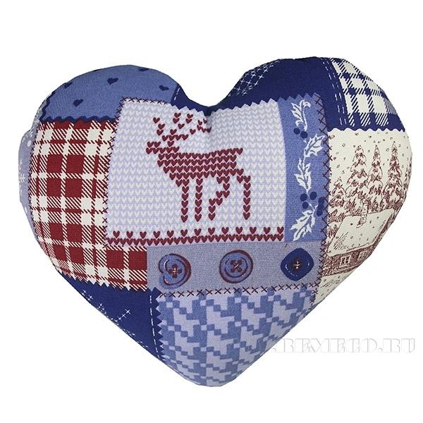 Подушка-сердце «Зимний пейзаж» 33*38см оптом