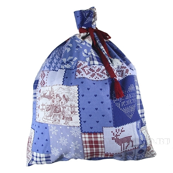 Мешок для подарков «Зимний пейзаж», размер 90*70см оптом
