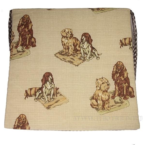 Подушка  на сиденье 40*40см из ткани «Собаки» оптом