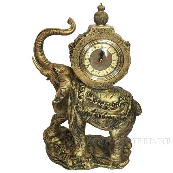 Композиция время Слон(цвет бронза)L22W10H35см. оптом