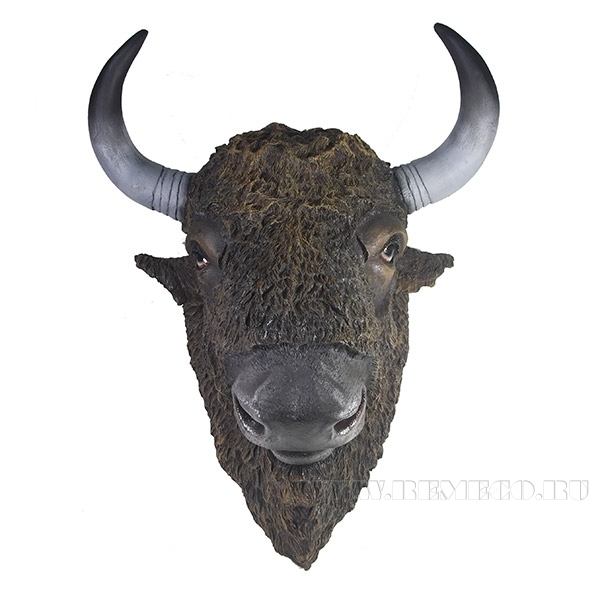 Фигура декоративная Голова бизона L51W61H32см оптом