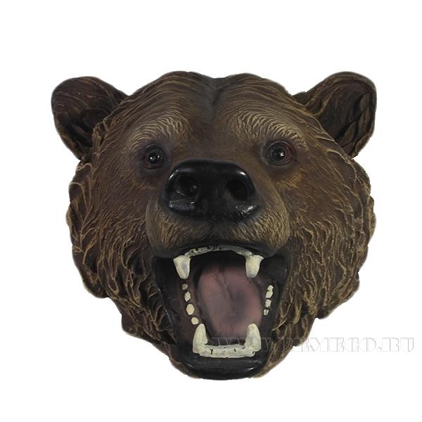 Фигура декоративная Голова медведяL23W24H23см оптом