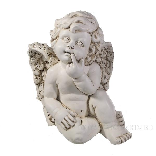 Фигура декоративная Ангел(цвет антик)L23W22H26см оптом