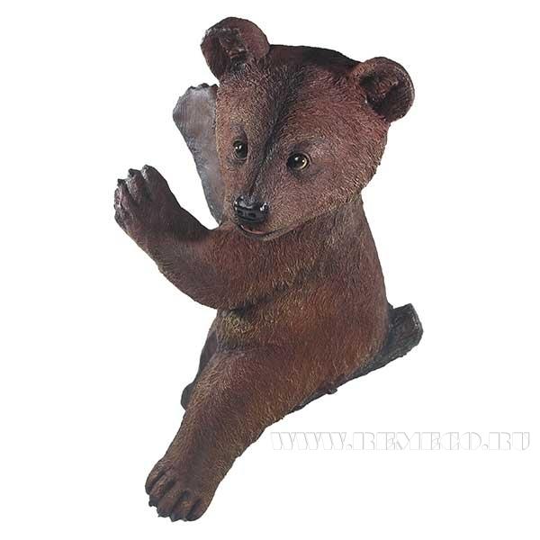 Фигура садовая навесная Медвежонок L29W24H39 см оптом