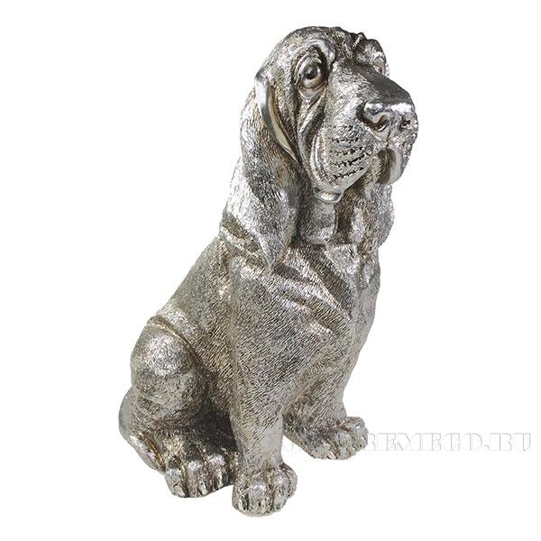 Фигура декоративная Бландхаунд (серебро) L17W24H33см оптом