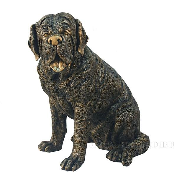 Фигура декоративная Мастиф бол. сидячий (цвет бронза) L54W54H59 см оптом