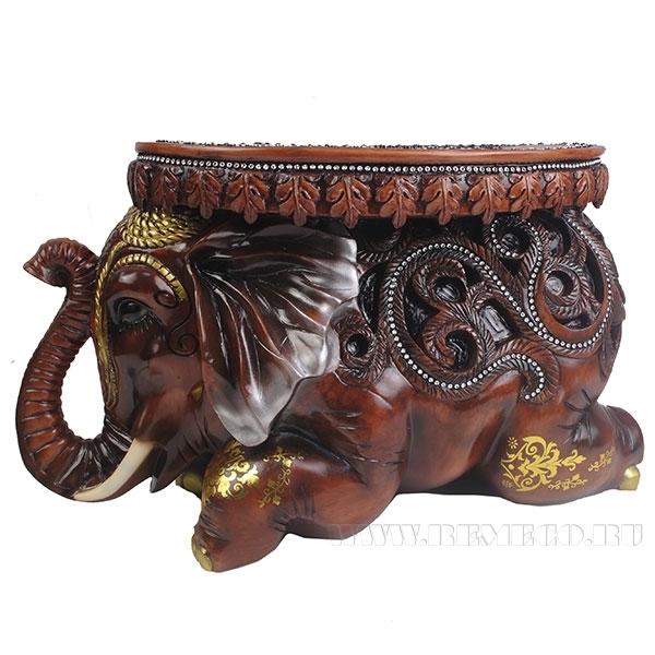 Изделие декоративное Слон (цвет коричневый)L55W22H32см оптом