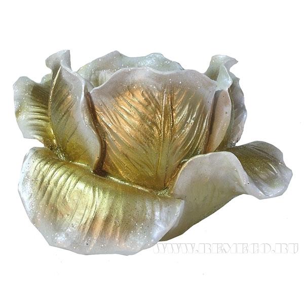 Изделие декоративное Подсвечник Тюльпан(цвет золото) L11W11H7см оптом