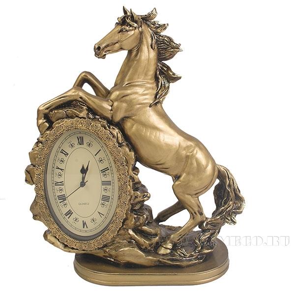 Композиция время Лошадь (цвет золото) L31W15H40см оптом
