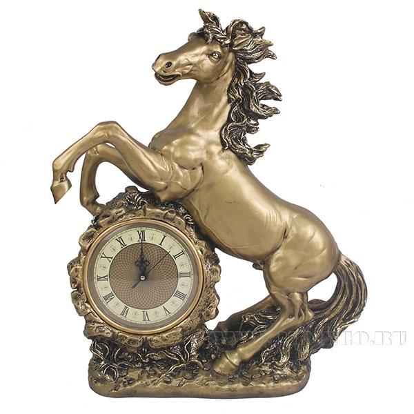 Композиция время Конь (цвет золото) L39W17H51см оптом