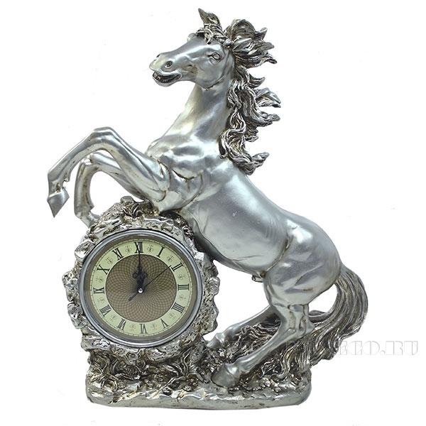 Композиция время Конь (цвет серебро) L39W17H51см оптом