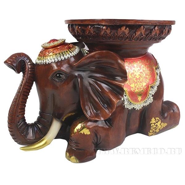 Изделие декоративное Слон (цвет красное дерево)L46W29.5H32см оптом
