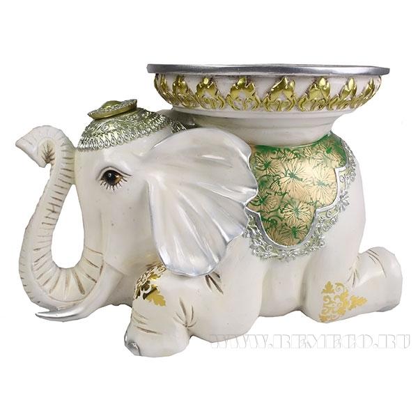 Изделие декоративное Слон(цвет слоновая кость)L46W29.5H32см оптом