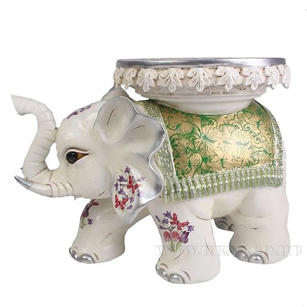 Изделие декоративное Слон (цвет слоновая кость)L48W28H32см оптом