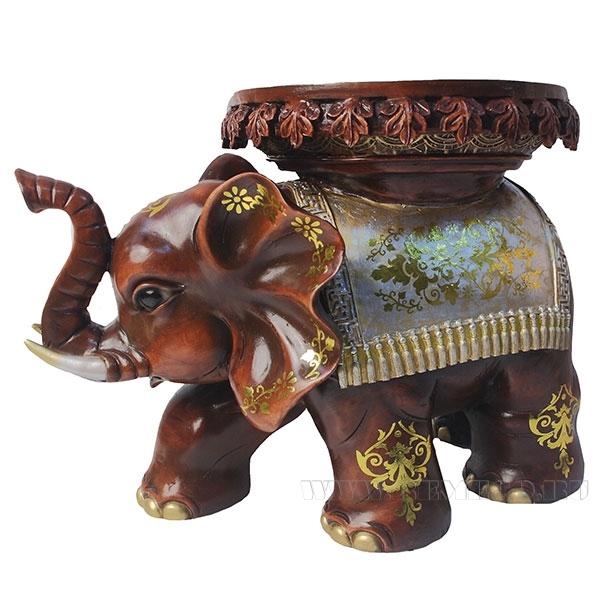 Изделие декоративное Слон (цвет красное дерево)L48W28H32см оптом