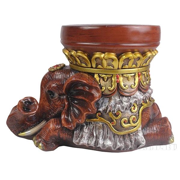 Изделие декоративное Слон (цвет красное дерево)L45W25H30,5см оптом