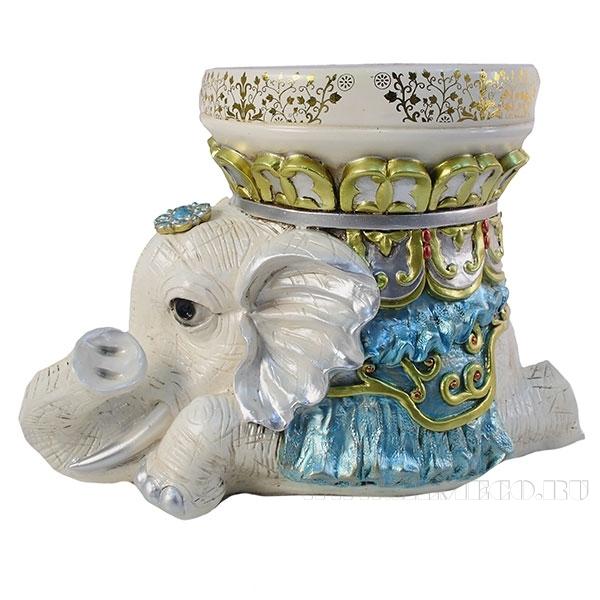 Изделие декоративное Слон(цвет слоновая кость)L45W25H30,5см оптом